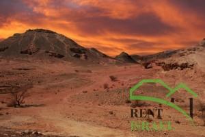 Закат в чарующей пустыне Негев