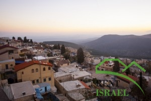 The town of Safed in northern Israel in the vening.