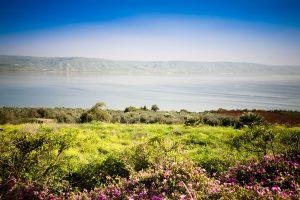 Потрясающий вид на Галилейское море