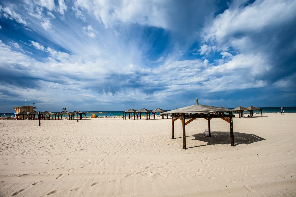 Вид на пляж Тель-Авива