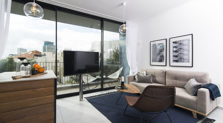 Дизайнерские двухкомнатные апартаменты на Аленби в Тель-Авиве