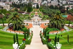 Бахайские сады в Хайфе Израиль