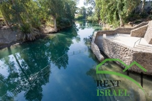 The baptismal site Yardenit on the Jordan river