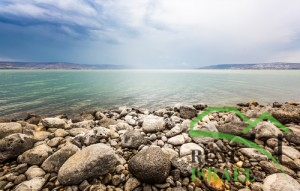 Sea of Galilee landscape in summer day
