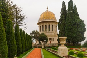 The Bahai gardens and temple, on the slopes of the Carmel Mountain, in Haifa, Israel