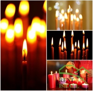 Religion candles collage